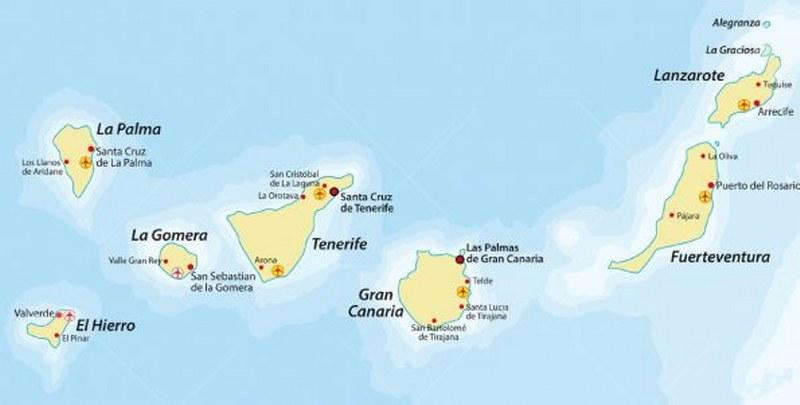 Isole Gran Canarie Cartina.Come Spostarsi Tra Le Isole Canarie Viva Vacanze
